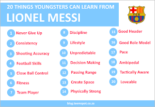 20 things younster can learn from messi