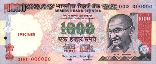 Antique Coins India: 1000 Rupee Republic India Note Signed ...  Indian Rupee Coin 1000