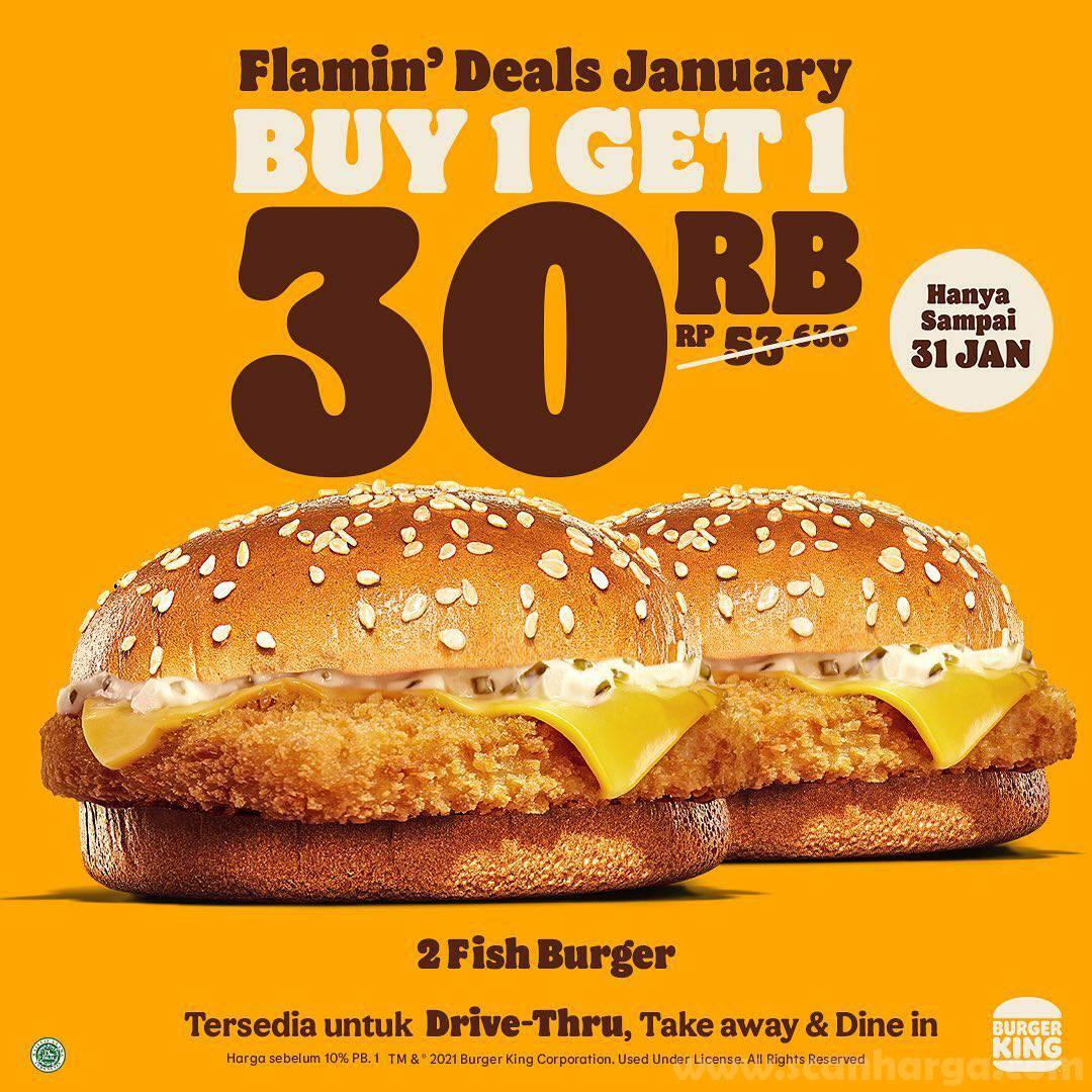 Burger King Flamin' Deals Promo Paket January mulai Rp 30.000