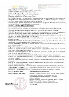 عرض توظيف لمنصب عمل مسؤول تجاري شركة GÉNÉRAL EMBALLAGE