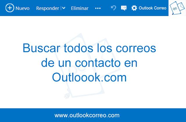 Buscar todos los correos de un contacto en Outloook.com