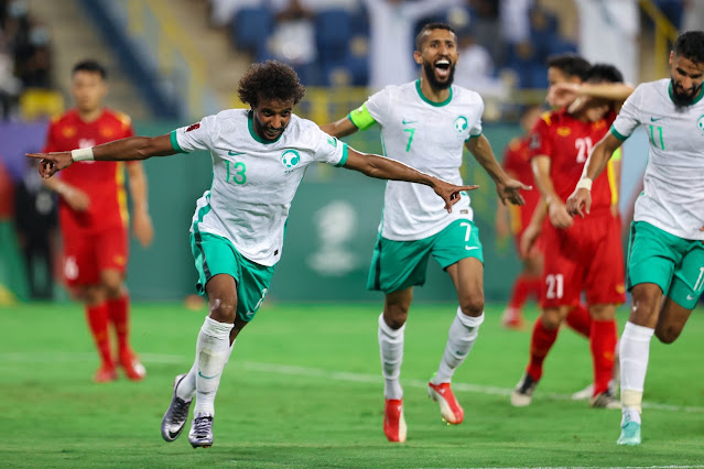 ملخص اهداف مباراة السعودية وفيتنام (3-1) تصفيات كأس العالم