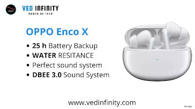 OPPO Enco X , OPPO Enco X price , OPPO Enco X price in india  , OPPO Enco X launch date , OPPO Enco X details , OPPO Enco X specification , oppo buds