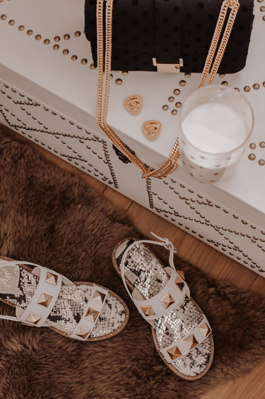 Moda in Pelle Illani White Studded Sandals Review