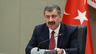 وزير الصحة التركي يعلن عن أعداد الإصابات والوفيات اليوم بفايروس كورونا