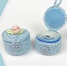 Porta cinta métrica a Crochet