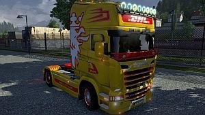 DHL Scania Streamline skin