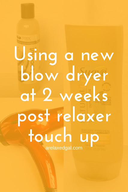Relaxed Hair Wash Day: 3 Weeks Post Relaxer Touch Up | arelaxedal.com