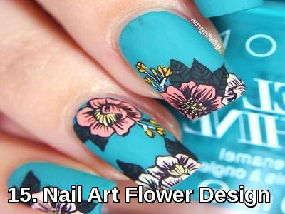 Nail Art Flower Design