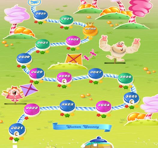Candy Crush Saga level 3621-3635