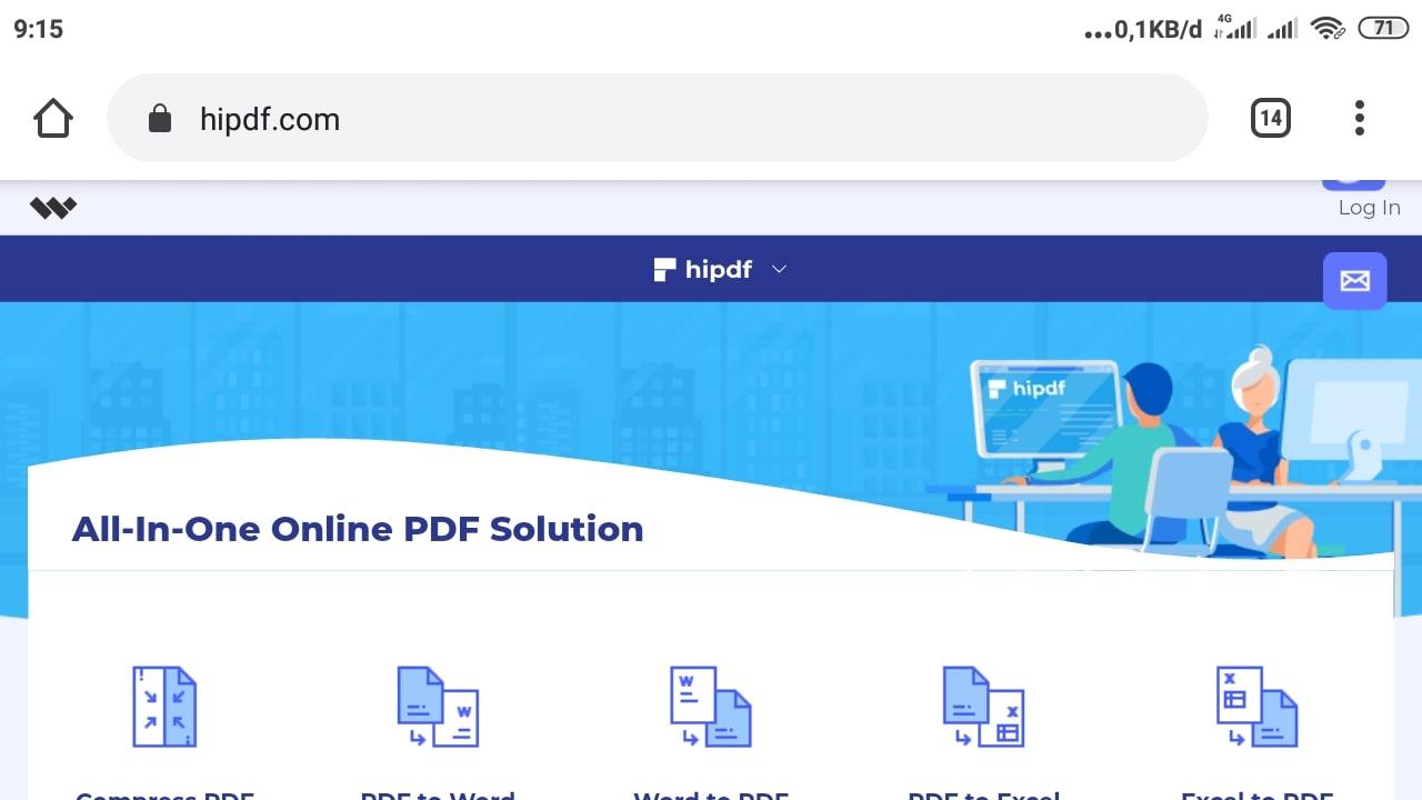 Cara Kompres File PDF di Hipdf