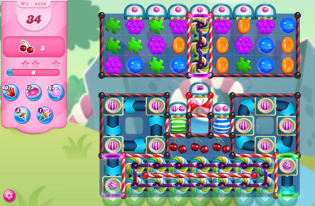 Candy Crush Saga level 9660