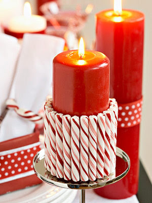 Christmas Decoration: Candy cane theme :