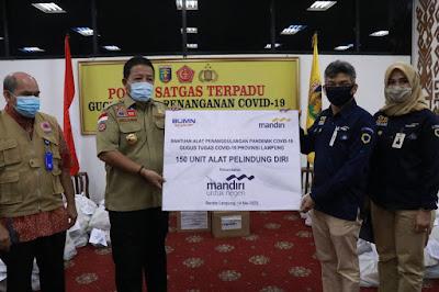 Bahu Membahu Tanggulangi Covid, Posko Gugus Tugas Provinsi Lampung Terima Bantuan Dari Berbagai Pihak