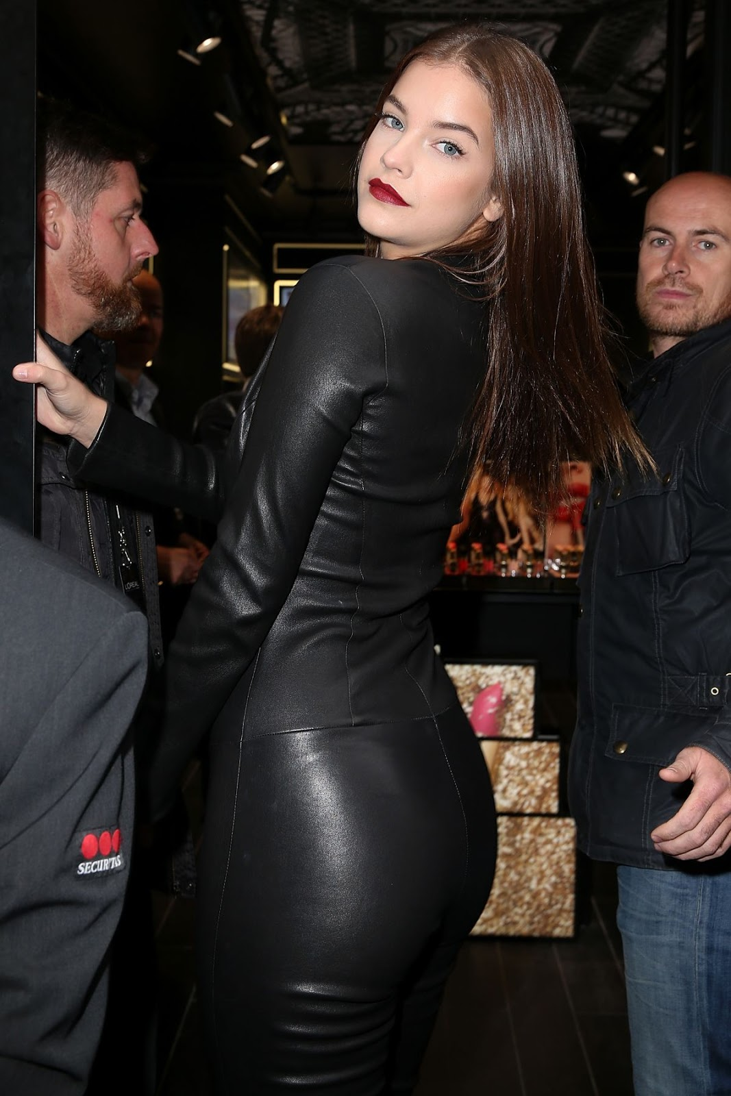 Barbara Palvin Booty in Leather