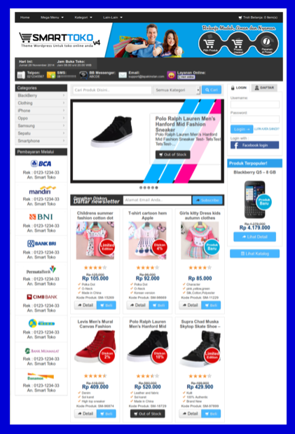 Tema online shop wordpress