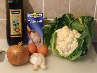 Tortillitas de coliflor., ingredientes