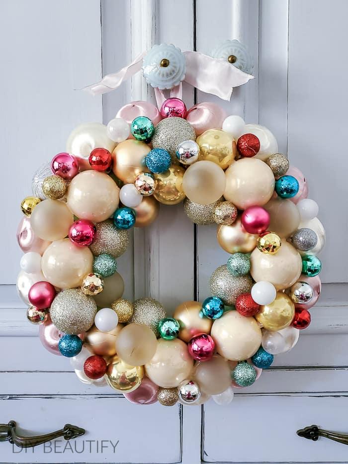 pastel ornament wreath