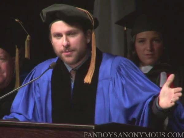 Charlie Day Commencement Speech Funny Merrimack College Fanboys Anonymous IASIP Always Sunny Philadelphia