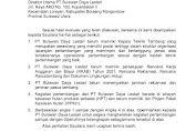 Pemerintah Pusat Tutup PT BDL
