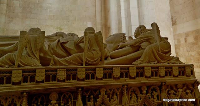 Detalhe do túmulo de Inês de Castro, Mosteiro de Alcobaça
