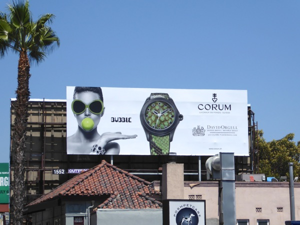 Corum Bubble wristwatch billboard