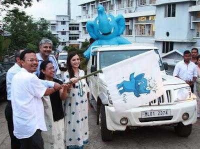 Dia Mirza Launched Gaj Yatra in Meghalaya