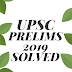 UPSC Prelims General Studies Paper-I Solved 2019