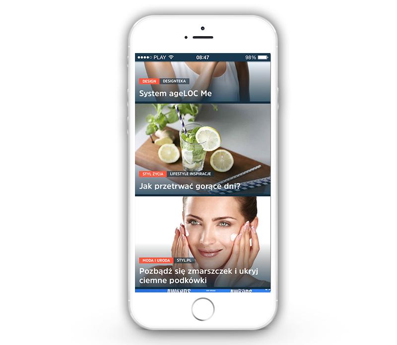 Iphone z aplikacją SQUID