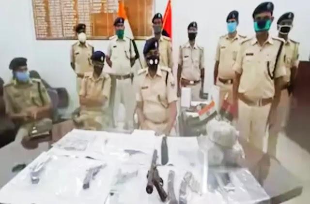 पुलिस ने छह अपराधियों को हथियारों के जखीरे के साथ पकड़े, बड़ी घटना को अंजाम देने की थी तैयारी