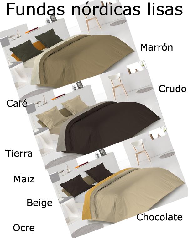 Fundas nórdicas tonos marrón