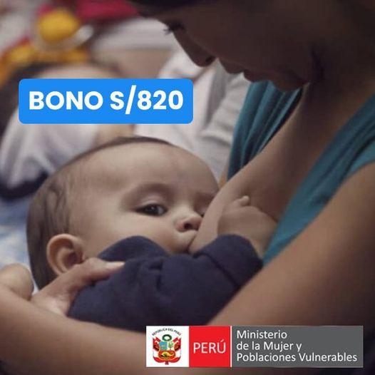 Bono 2021 Lactancia MATERNA: ¿Cómo Cobrar El SUBSIDIO De S/820?
