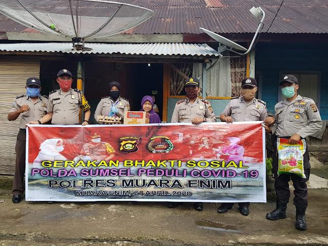Antisipasi Covid-19 Kapolsek Tanjung Enim Memberikan Himbauan