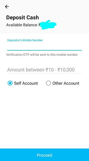 deposit cash paytm payment bank