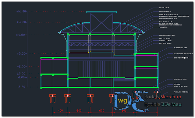 Performing arts center Dwg