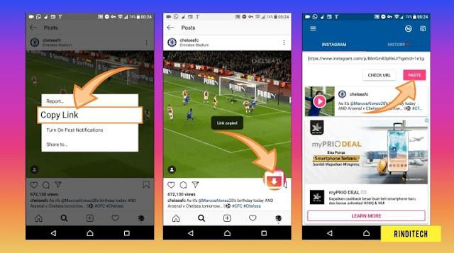 Cara Menyimpan Video Dari Instagram ke Galeri HP atau PC