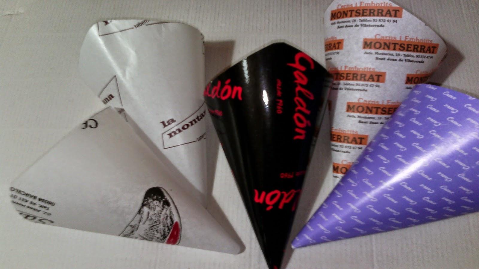 cucuruchos antigrasa en carton