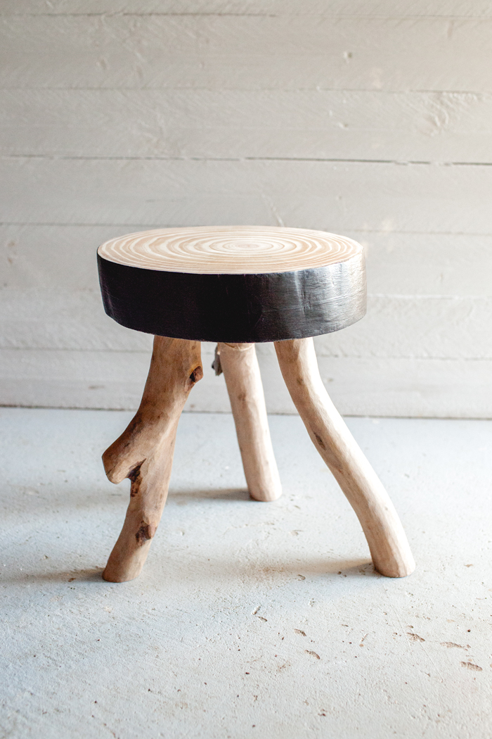 plain wood stool