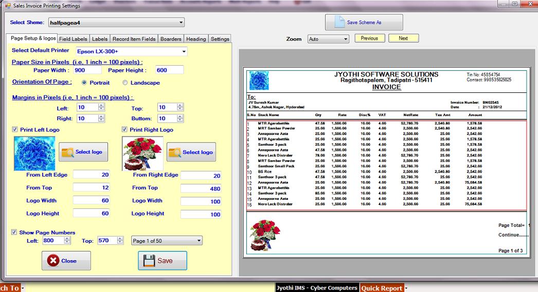VB NET SOURCE CODE: Custom Paper Size Printing in vb net