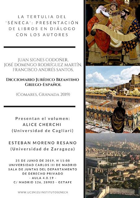 cartel de La Tertulia del Séneca del 25 de junio de 2019