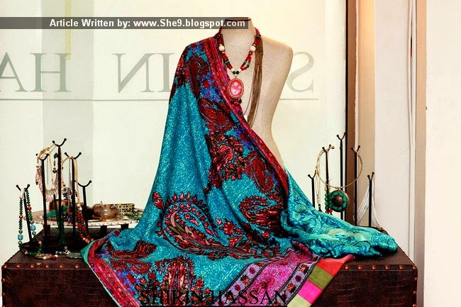 Royal Hand-Made Embroidered Shawls by Shirin Hassan