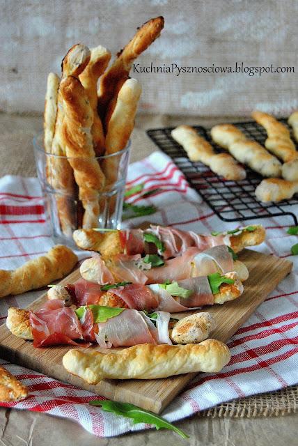 474. Włoskie paluchy chlebowe grissini