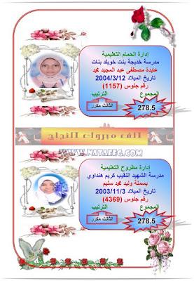 بالصور والاسماء اوائل الشهادة الاعدادية التيرم الثانى 2019 أخر العام بمحافظة مطروح