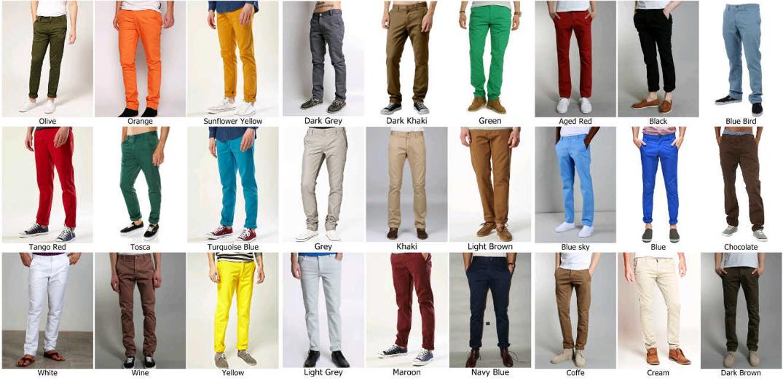 Model Celana untuk pria