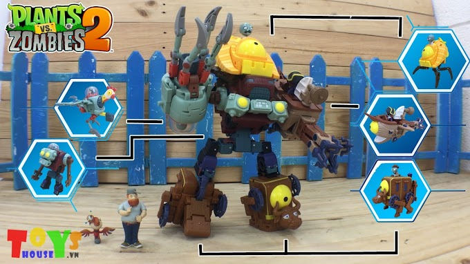 Đồ Chơi Plants VS Zombies 2 Biệt Đội Zombies Boss Biến Hình Hợp Thể
