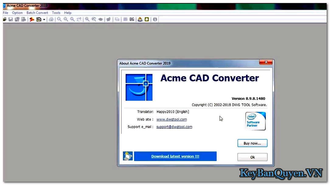 Tài Acme CAD Converter 2019 Full Key , Chuyển đổi DXF, DWF và DWG sang BMP, WMF,GIF, JPEG, TIFF, PNG, TGA, PCX, DXF, DWG, SVG, SVGZ, CGM, EPS, PDF, HPG