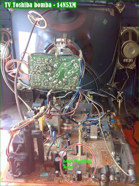 Gambar Mesin bagian Belakang TV Toshiba bomba 14N5XM