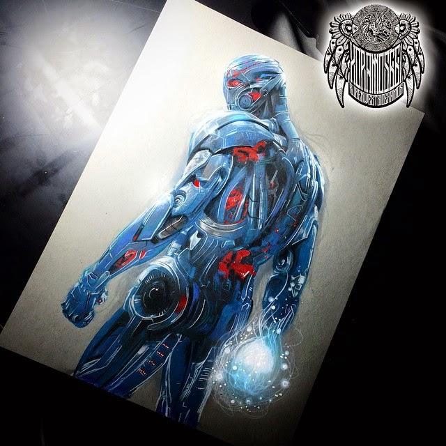 14-Ultron-2-Ramos-Ruben-xoramos661-Photo-Real-Comic-Book-Coloured-Drawings-www-designstack-co