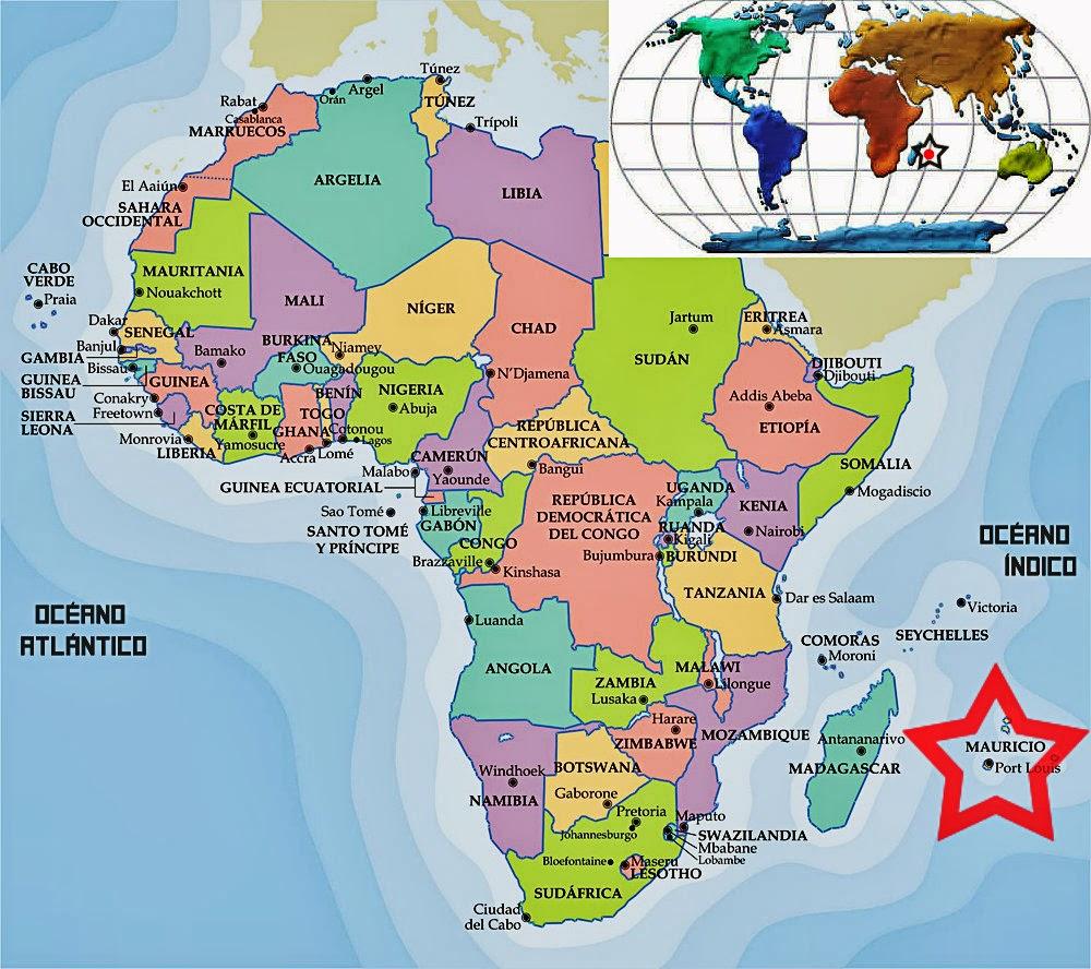 Mapa Islas Mauricio Mapa Ubicacion Geografica