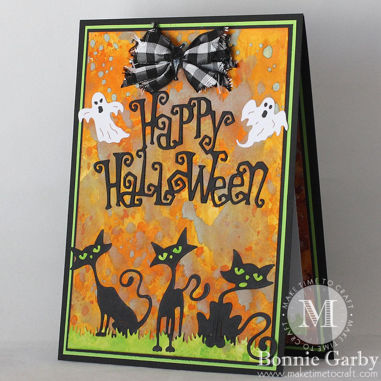 happy halloween card with bonnie garby cheery lynn designs